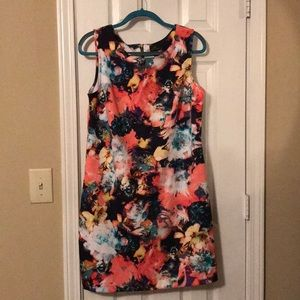 Vibrant Floral Sheath Dress
